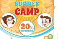 Summer Kid Camp Flyer Stock Vector. Illustration Of intended for Free Summer Camp Flyer Template