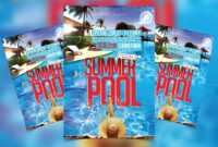 Summer Pool Party Free Psd Flyer Template – Psdflyer.co regarding Free Pool Party Flyer Templates