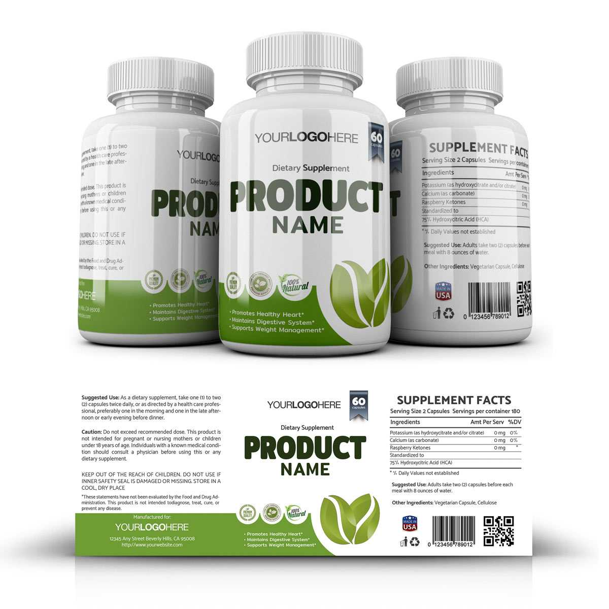Supplement Label Template - Yupidesigns For Dietary Supplement Label Template
