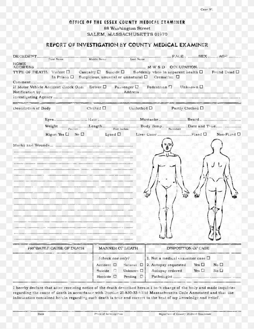 Template Autopsy Microsoft Word Report Résumé, Png With Coroner's Report Template