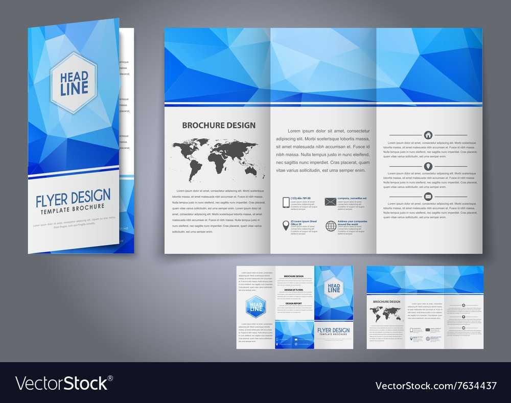 Template Design Three Fold Flyer Brochure Intended For Free Three Fold Brochure Template