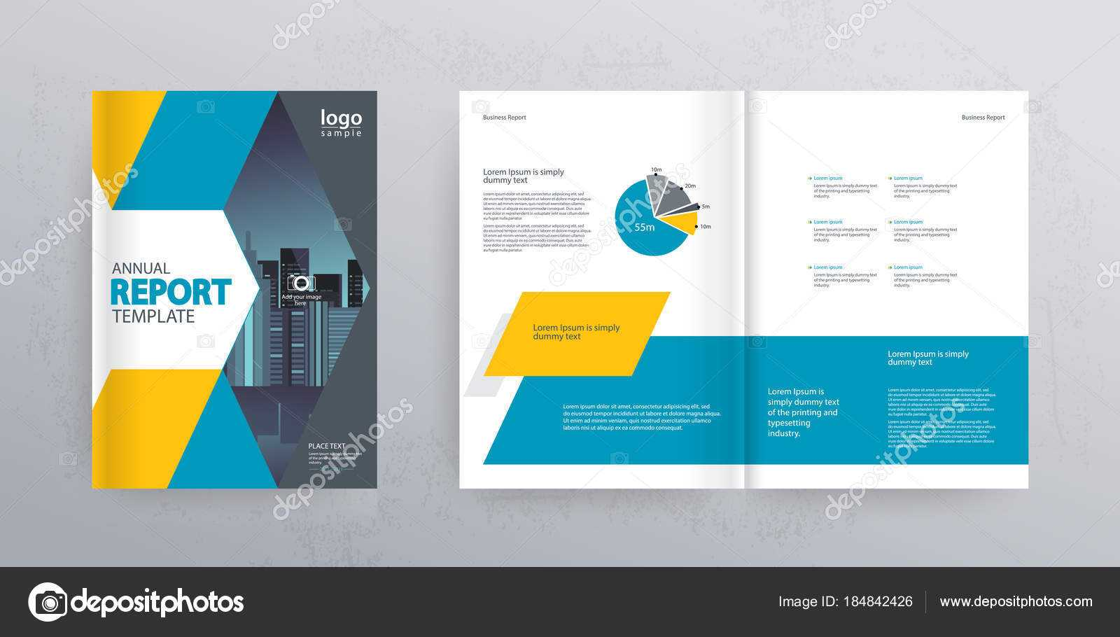 Template Layout Design Cover Page Company Profile Annual With Cover Page For Annual Report Template