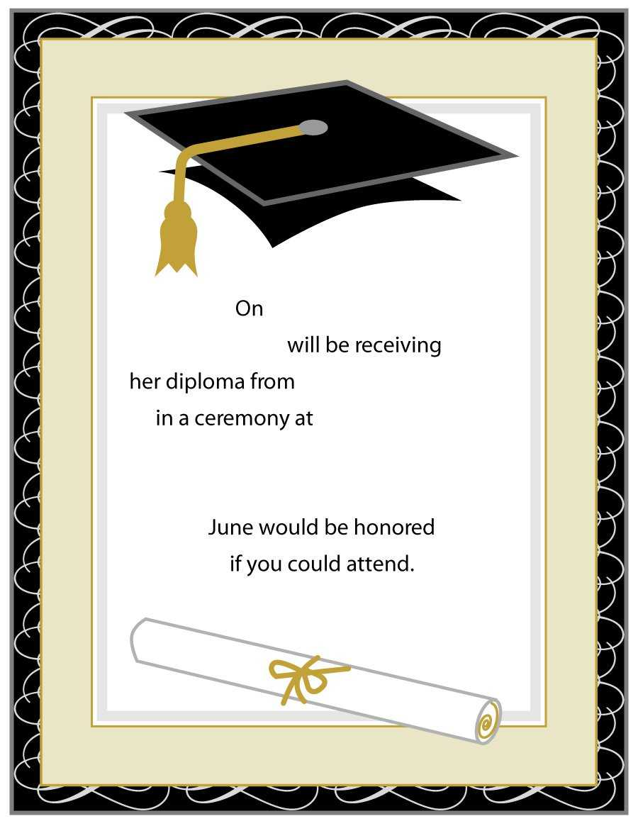 Templates For Graduation - Colona.rsd7 Inside Free Graduation Invitation Templates For Word