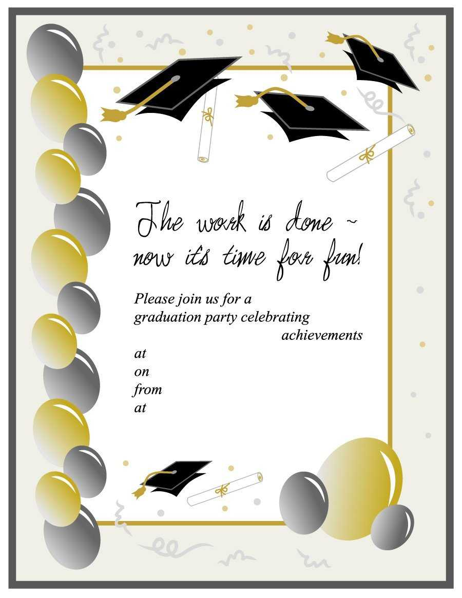 Templates For Graduation - Colona.rsd7 Throughout Free Graduation Invitation Templates For Word
