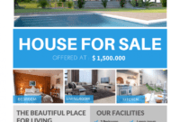 The Best Real Estate Flyer For All Realty Companies within Free Home For Sale Flyer Template