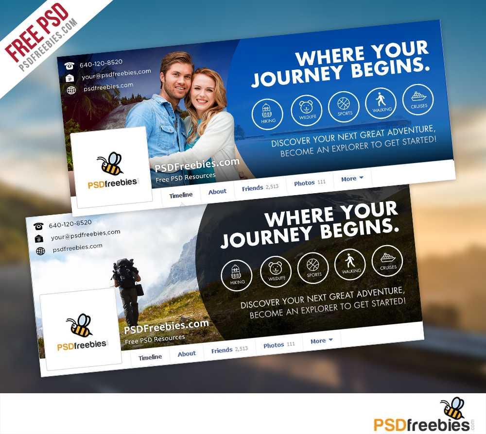 Travel Facebook Timeline Covers Free Psd Templates Regarding Facebook Banner Template Psd