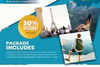Travel Holiday Free Psd Flyer Template – Free Psd Flyer in Free Holiday Flyer Templates