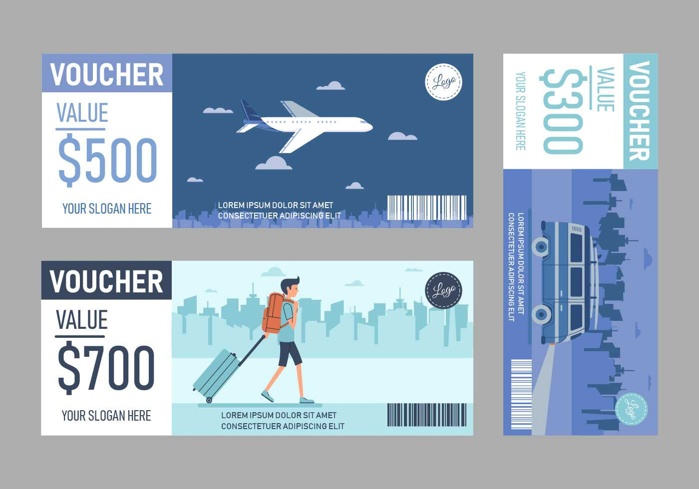 Travel Voucher Free Vector Art - (33 Free Downloads) With Free Travel Gift Certificate Template