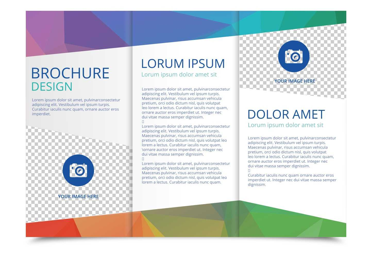 Tri Fold Brochure Vector Template – Download Free Vectors Regarding Free Three Fold Brochure Template