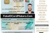 United Arab Emirates Id Card Template Psd [Proof Of Identity] with regard to Florida Id Card Template