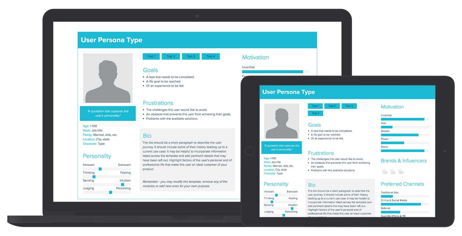 User Persona Template And Examples | Xtensio Regarding Customer Persona Template