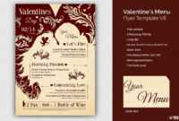 Valentine's Day Menu Template V6 | Free Posters Design For Photoshop inside Free Valentine Menu Templates