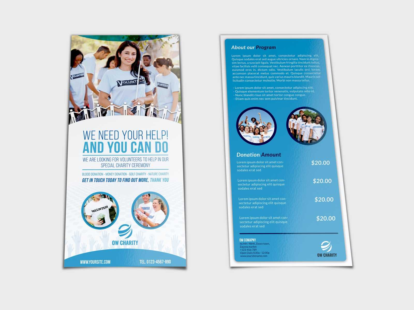 Volunteer Flyer Template Dl Sizeowpictures On Dribbble Within Dl Size Flyer Template