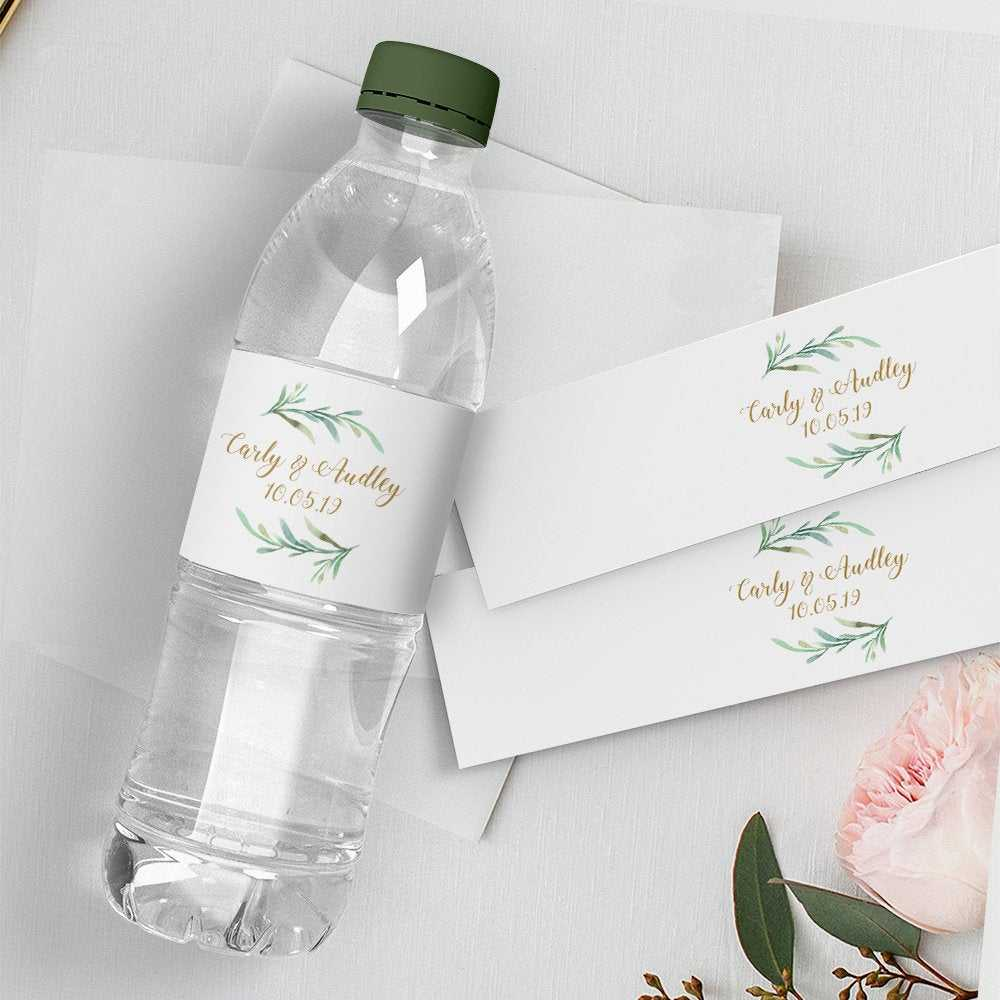 Water Bottle Label, Diy Printable Wedding Water Bottle Intended For Diy Water Bottle Label Template