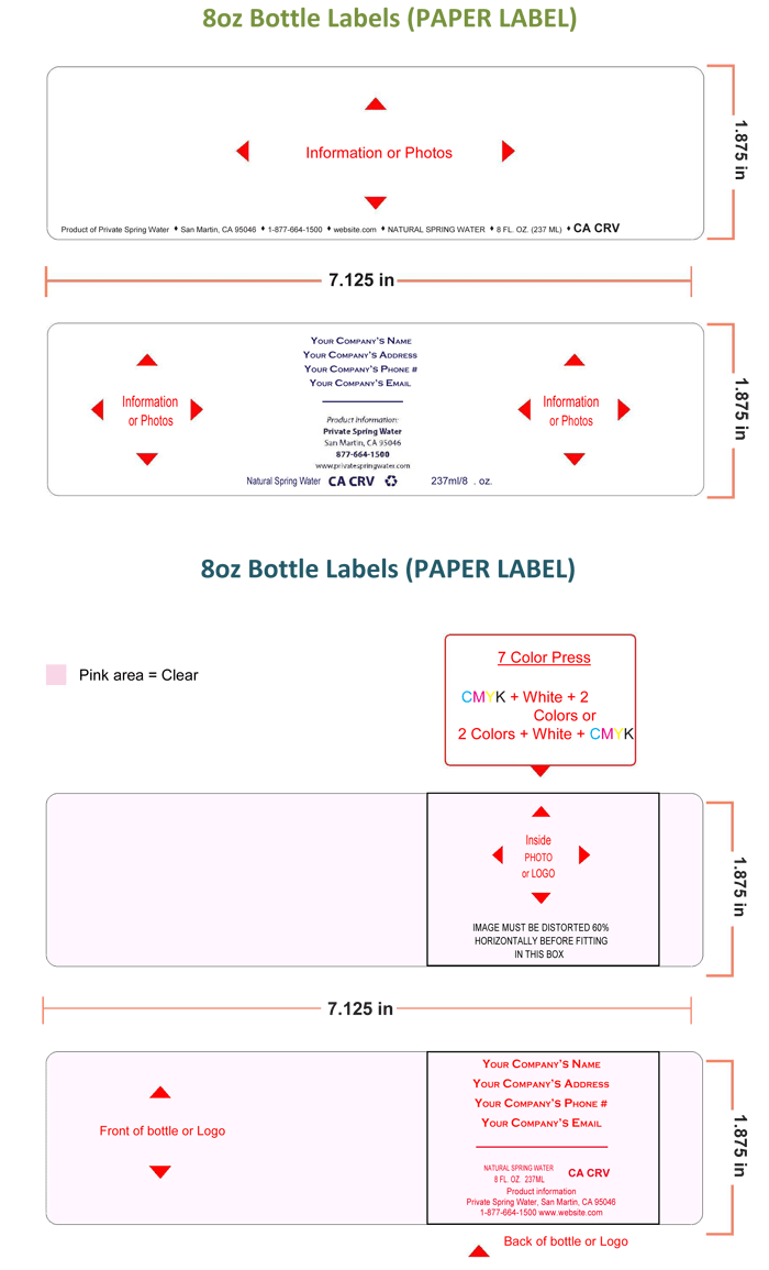 Water Bottle Label Template – Make Personalized Bottle Labels Intended For Drink Bottle Label Template