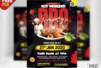 Weekend Bbq Party Flyer Template Psd – Psd Zone with Free Bbq Flyer Template