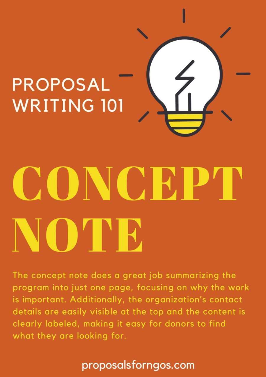 What Is A Concept Note? - Proposalforngos Throughout Concept Note Template For Project