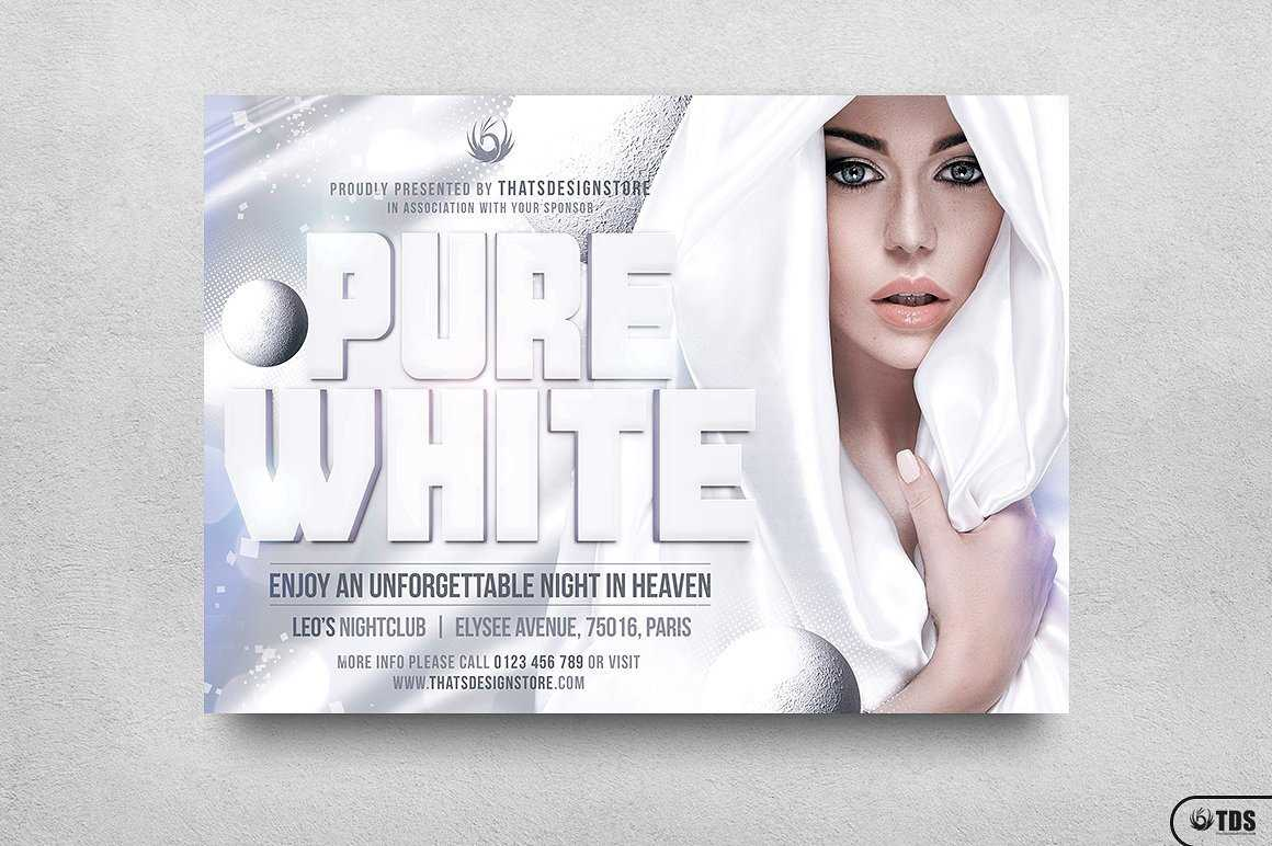 White Party Flyer Template V3 | Free Posters Design For Photoshop For Free All White Party Flyer Template