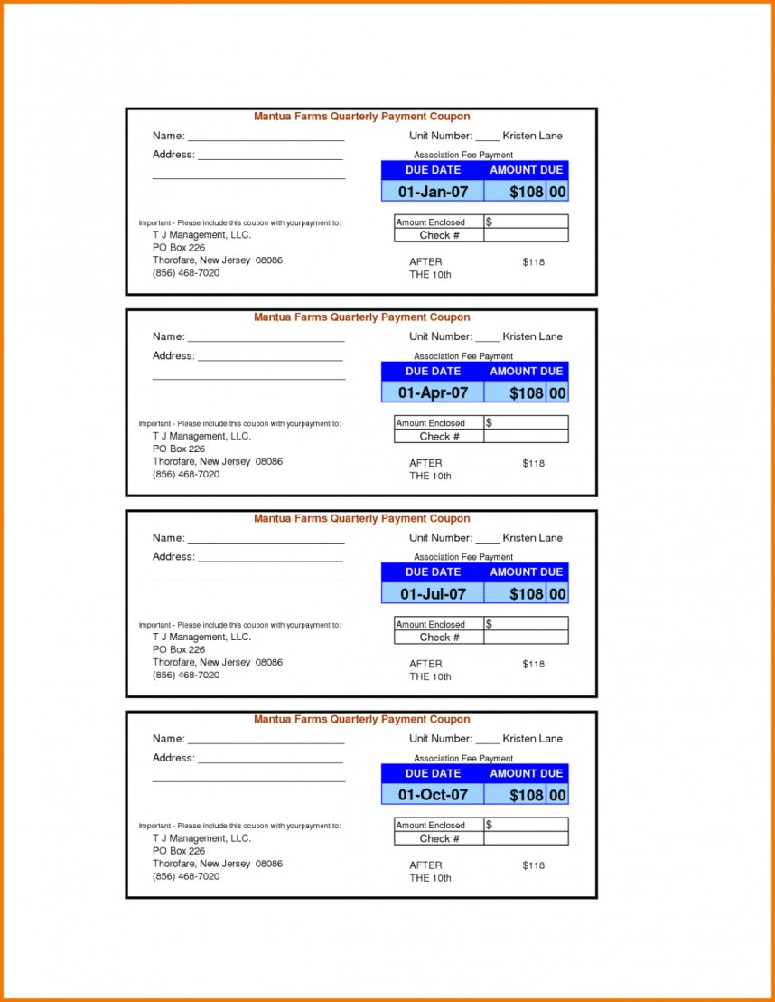 Wonderful Payment Coupon Book Template Ideas Free Loan Pertaining To Coupon Book Template Word