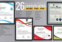 Word Certificate Template – 53+ Free Download Samples pertaining to Free Templates For Certificates Of Participation