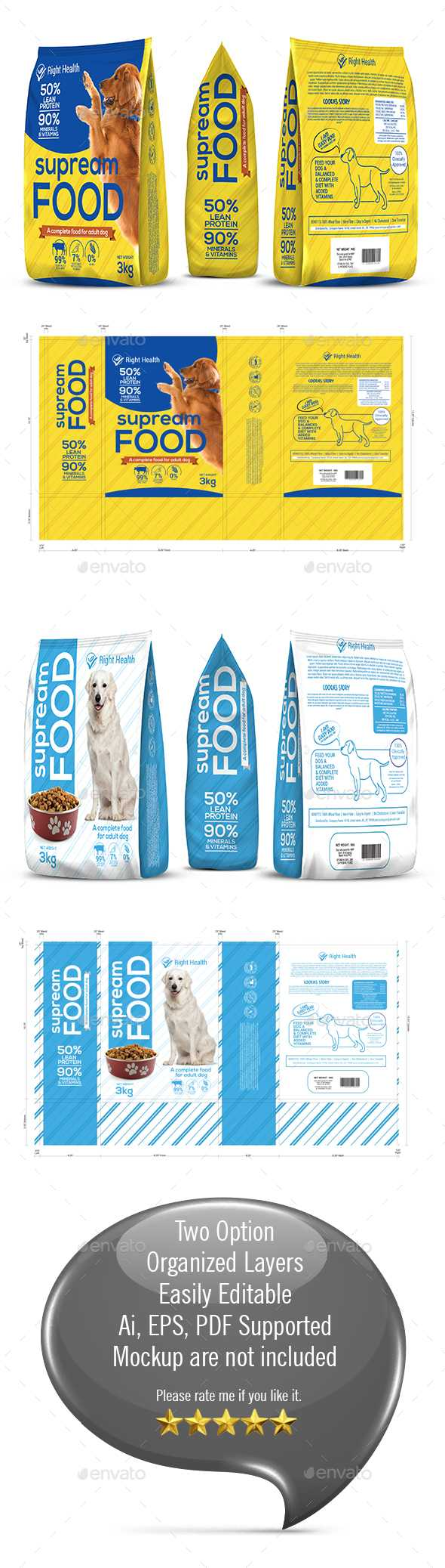 Wrap Stationery And Design Templates From Graphicriver Within Dog Treat Label Template