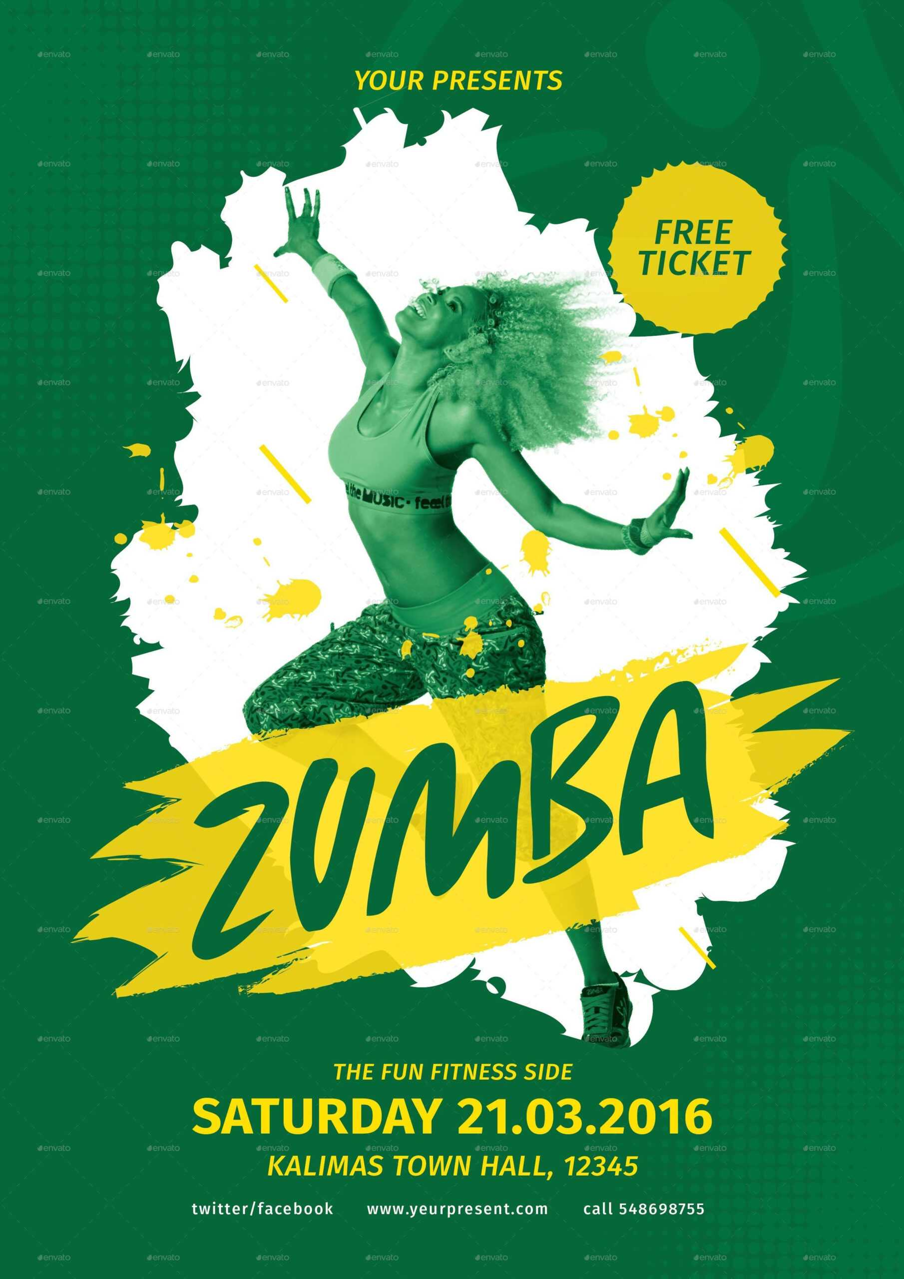 Zumba Flyer Template Free ] - Images About Zumba On Intended For Free Zumba Flyer Templates